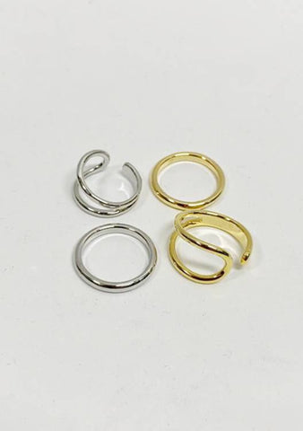 Miss You Quote Rings Set