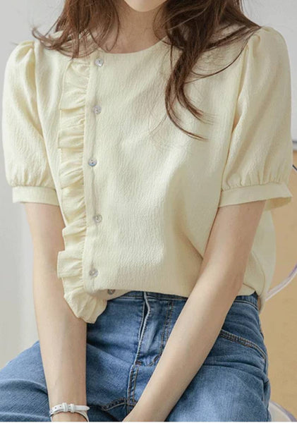 Be Where You Are Puff Blouse