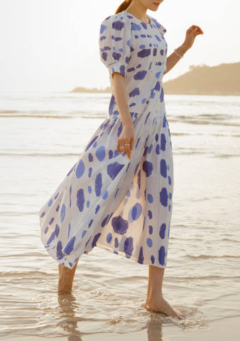 How To Say Goodbye Dots Long Dress