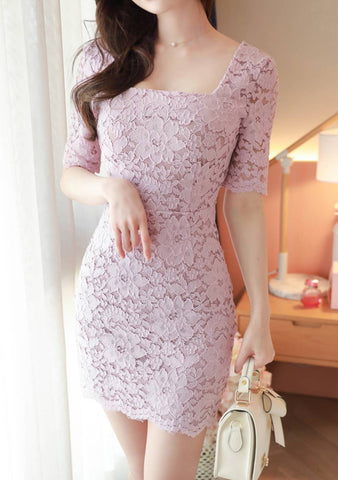 There Is Always Sunshine Lace Dress