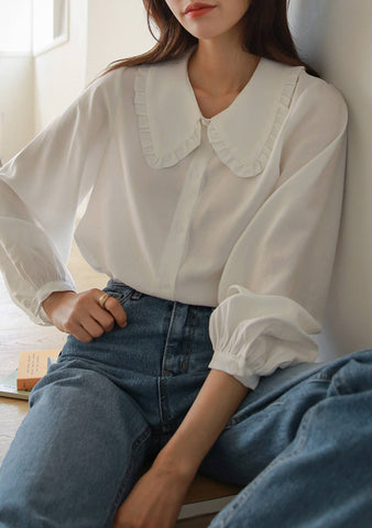 Hannah Collar Blouse