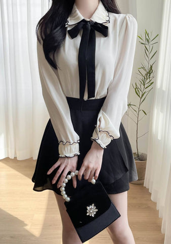 Ways To Be Romantic Ribbon Blouse