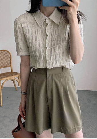 Choose Love Pleated Blouse