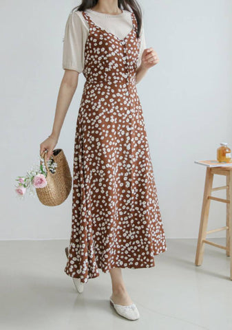 Garden Fairy Flower Slip Dress