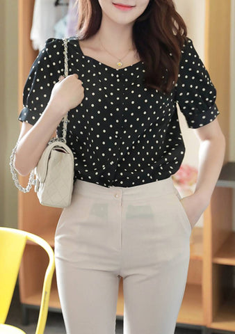 Going To Meet You Dots Blouse
