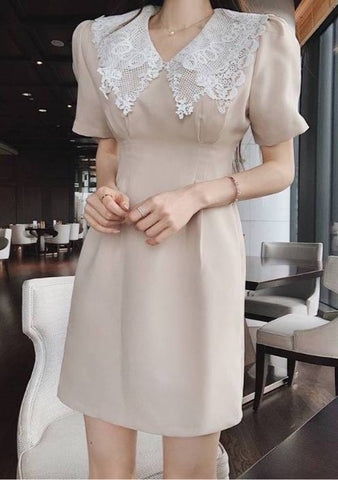 Elevated Layers Lace Collar Dress