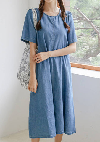 Multiple Style Pocket Denim Dress
