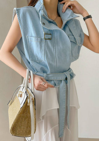Ways To Say I Love You Denim Vest