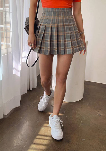 Lovely Little Mess Check Pleated Skirt