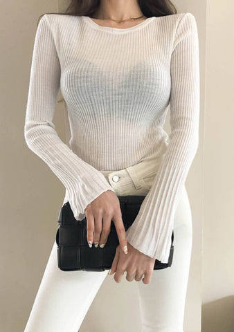 With The Idea Of Things Round Knit Top