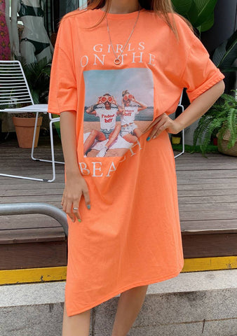 Girl On The Deck T-Shirt Dress