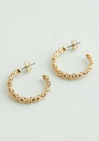 Get To Choose Shimmery Hoops Earrings