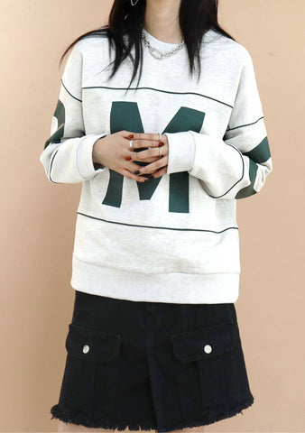 Who Is M Sweatshirt [Oatmeal]