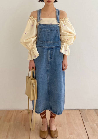 Spring Goddess Overall Denim Dress
