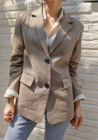 Conquer Your Shyness Linen Jacket