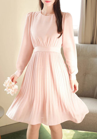 Blooming Wildly Pleated Dress