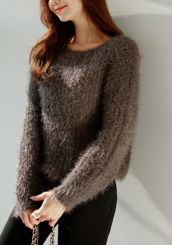 Go Make A Legacy Furry Loosefit Knit Top