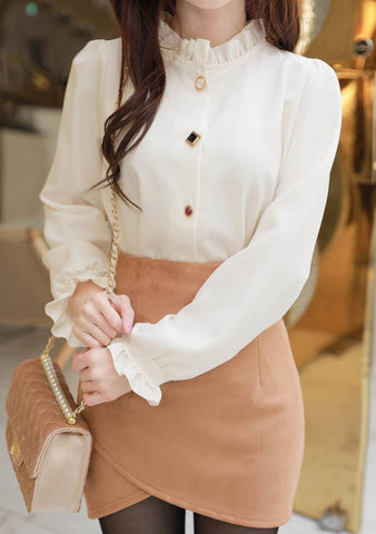 Have The Whole World Frill Blouse