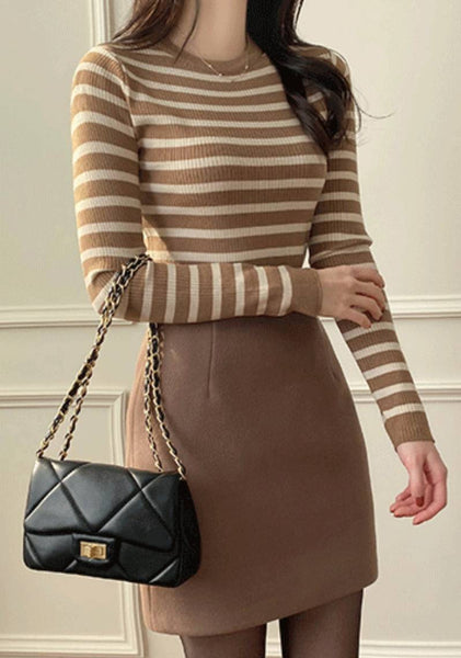 I Am Already There Stripes Knit Top