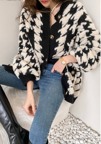 We Found Love Houndstooth Cardigan