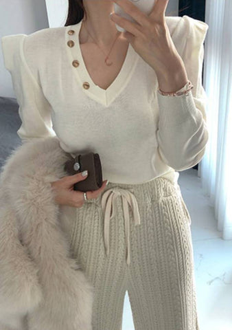 Euphoria Button Knit Top
