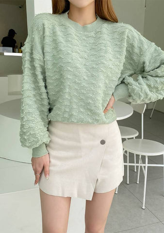 Mint Sweet Textured Knit Sweater