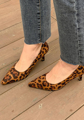 You Feel The Same Leo Print Pointed Shoes