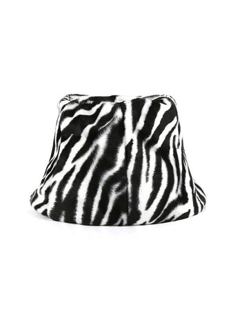 Natural Is In Zebra Print Bucket Hat