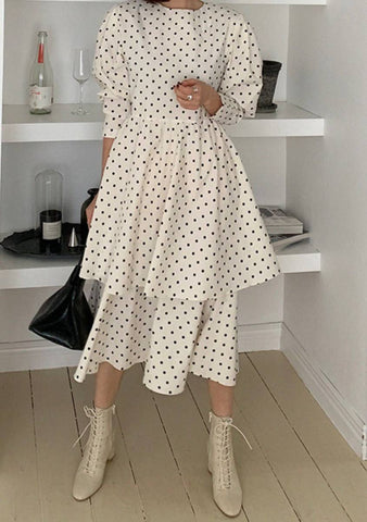 One Fine Day Dots Layered Dress