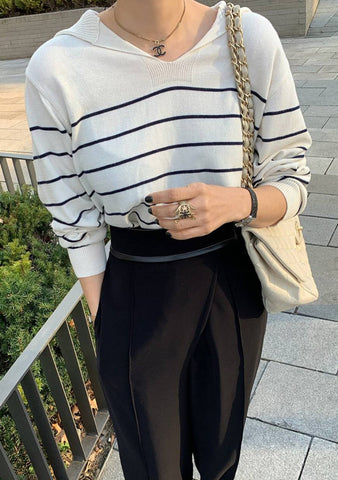 Tuesday Tips Stripes Knit Top