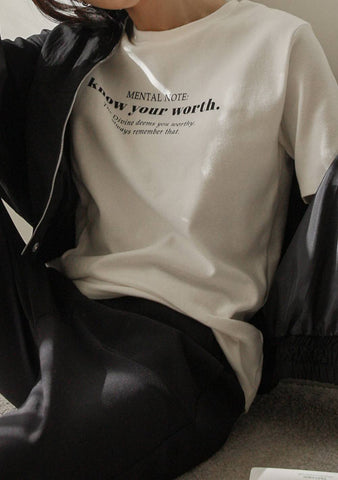 Know Your Worth Printed T-Shirt