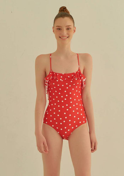 Led Me To The Beach Dots One Piece