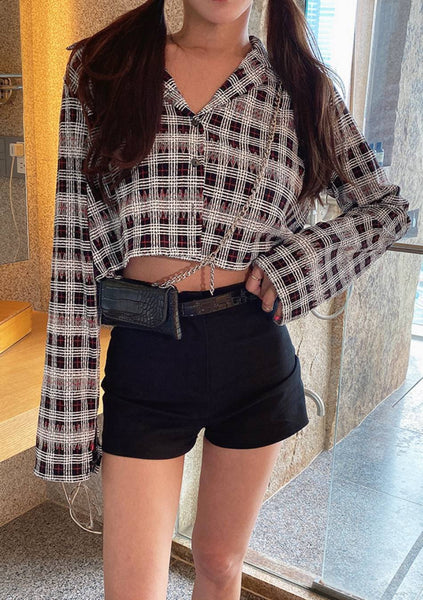 Unconditional Check Crop Top