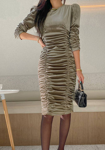 Mysterious Ways Rutched Dress
