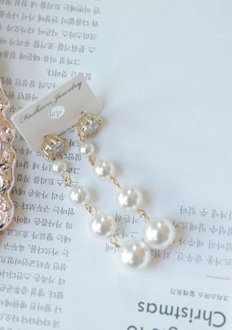Playing With Pearls Pendant Earrings