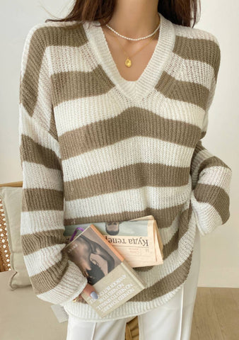 Make Your Life Sweet Stripes Knit Sweater