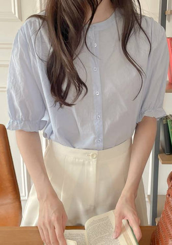 Empty Notebook Puff Blouse
