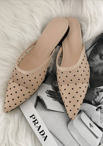The Drama Queen Dots Pointed Mules