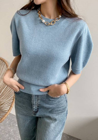 So Together Puff Knit Top