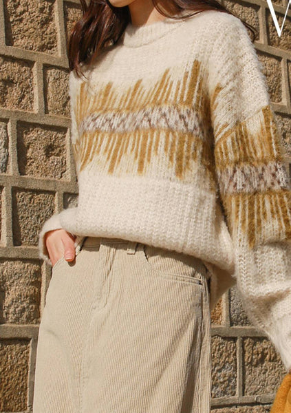 The Better Winter Patterned Wool Sweater