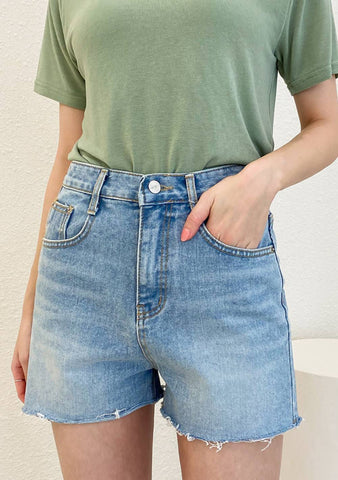 Pamper Yourself Denim Shorts