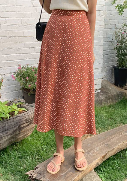 Summer Break Dots Long Skirt