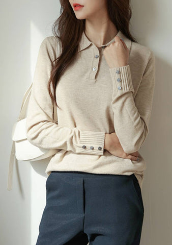 Wanting Attention Knit Button Pullover