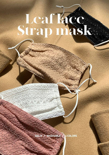 Leaf Lace Strap Mask