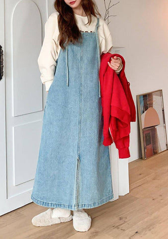 Diane Sleeveless Denim Dress