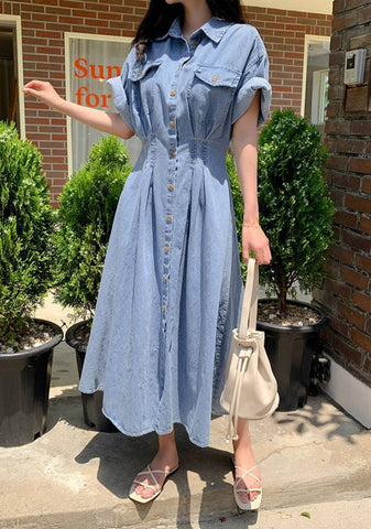 Summer For You Denim Long Dress