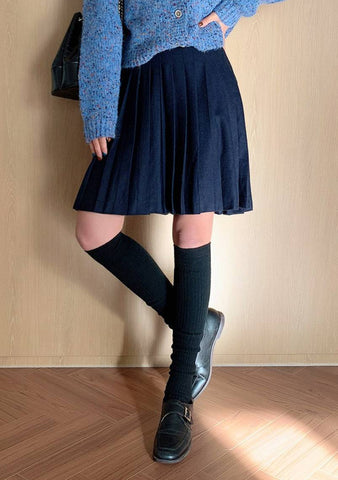 Cold Sea Wool Pleated Skirt