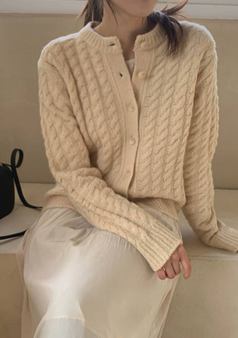 An Old Story Twist Knit Cardigan