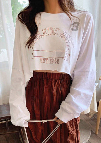 PE Class Uniform Crop Top