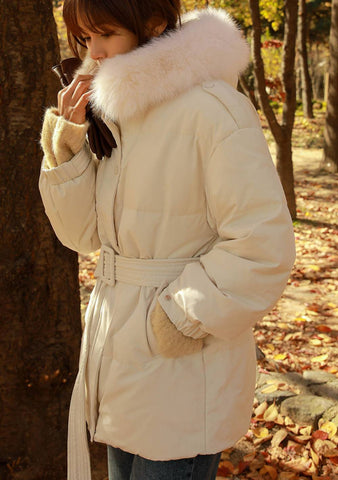 Fur Collar Duck Down Padded Jacket